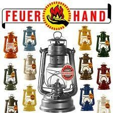 Original Feuerhand Hurricane Kerosene oil Camping outdoor Lantern lamp - Red