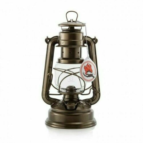Original Feuerhand Hurricane Kerosene oil Camping outdoor Lantern lamp lighting - Bronze
