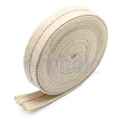Flat Cotton wick 1/4 inch (6.33 mm) x 1 Metre For Kerosene Oil Lamps