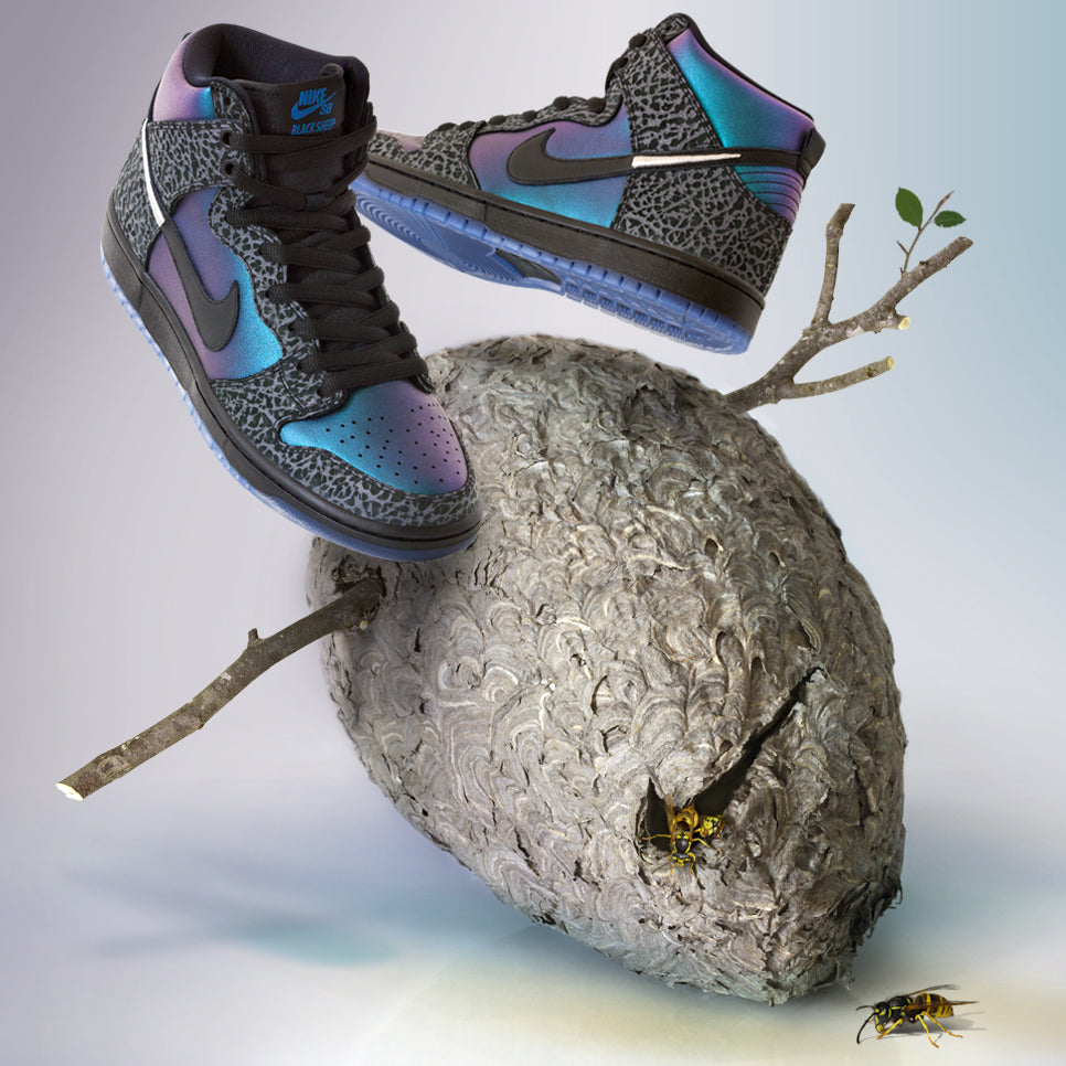 nike sb black hornet sheep dunk high