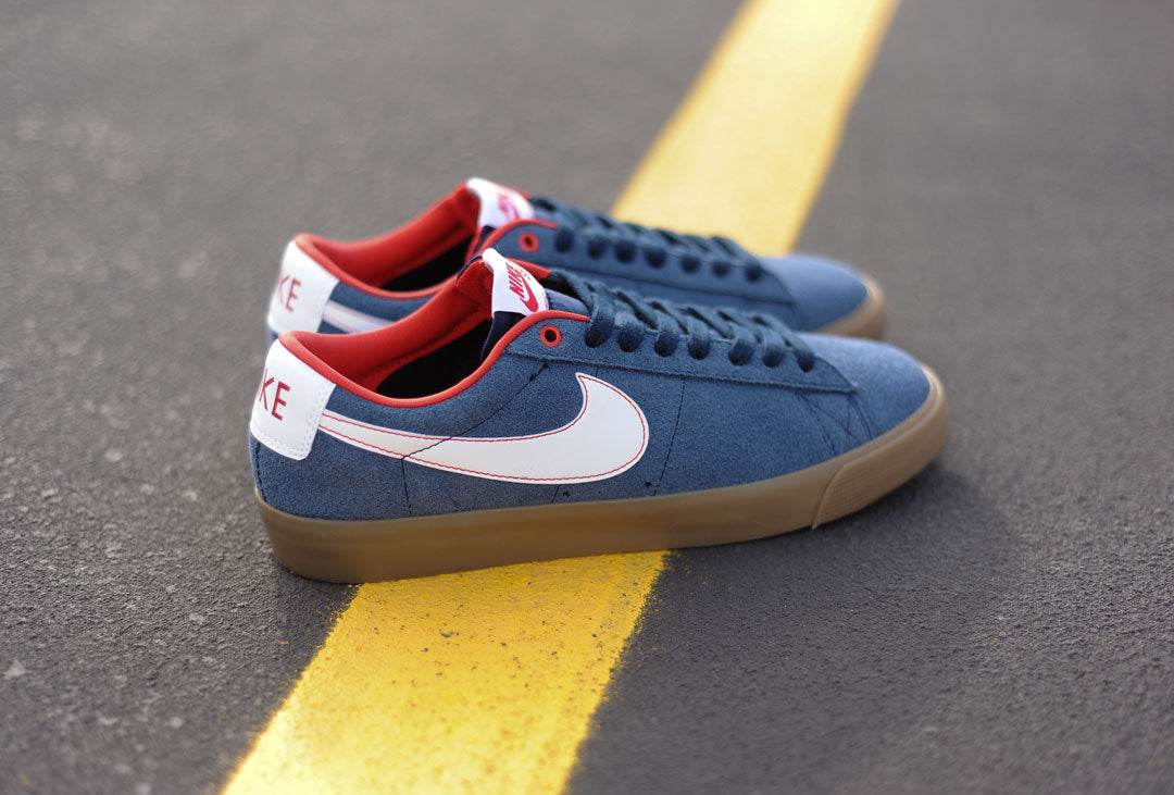 1e252e04a453 Nike SB Blazer Low GT - Obsidian  University Red  Gum – Empire Skate