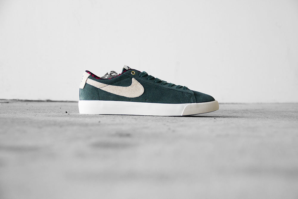 3aa7b867da565 Nike SB Blazer Low GT - Green Phantom - Empire Skate