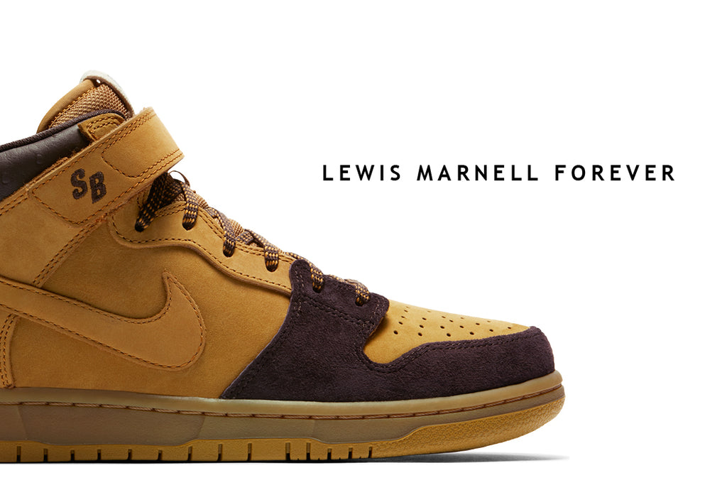 nike sb dunk mid lewis marnell forever brown cappuccino shoe