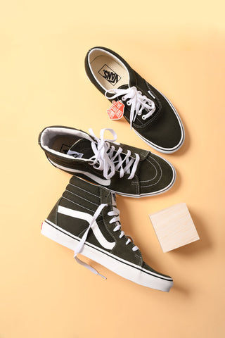 forest green vans shoes