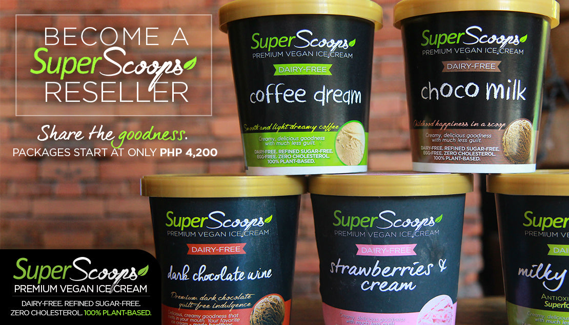 BECOME A RESELLER Super Scoops Vegan Ice Cream by The Superfood Grocer Philippines