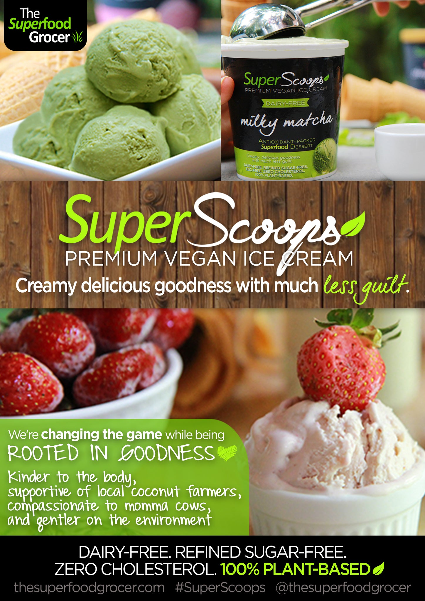 SUPER SCOOPS Premium Vegan Dairy-Free Ice Cream Philippines | The Superfood Grocer