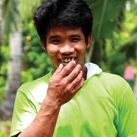 Happy and proud! | One of our partner coconut farmers | The Superfood Grocer (Philippines)