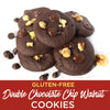 Soft-Baked Double Chocolate Chip Walnut Cookie