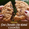 Vegan Dark Chocolate Chip Walnut Cookies