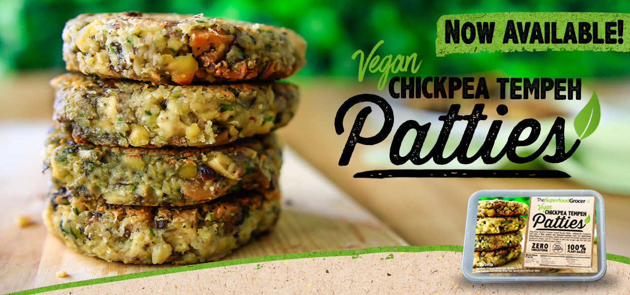 Vegan Meals - Chickpea Tempeh Patties | The Superfood Grocer Philippines