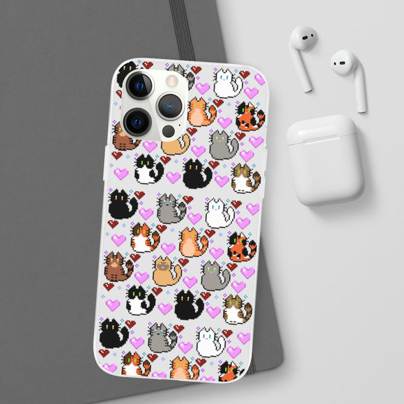 Pixel Cats Phone Cases