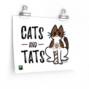 Cats and Tats Print