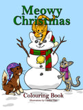 Meowy Christmas Digital Colouring Book