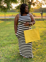 THE 'OUT FOR A STROLL' STRIPED MAXI DRESS