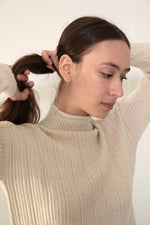 RIB SWEATER - ECRU