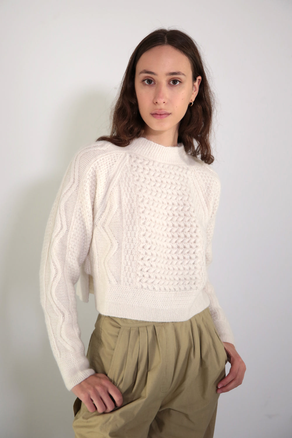 ZIGZAG SWEATER - CREAM