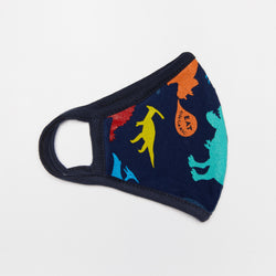 Organic Cotton Reusable Face Mask For Children - Dinosaurs