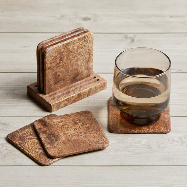 1100 Year Old Grand Oak Coaster Set