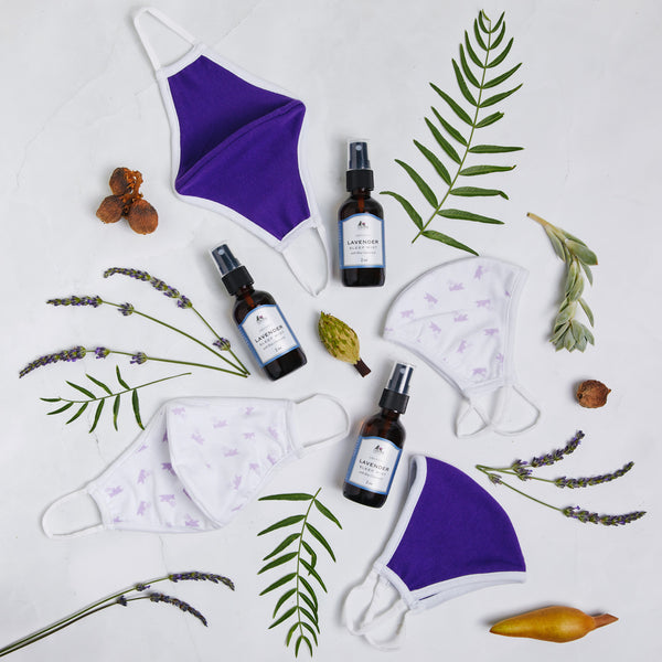 Lavender Sleep Mist & Reusable Cotton Face Mask Bundle