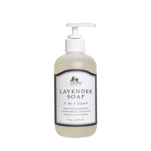 123 Farm Lavender 3-in-1 70% Organic Soap 8 oz