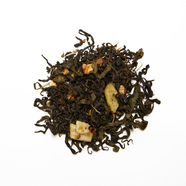 Wild Orchard Green Tea loose leaf Banana Sky blended green tea.