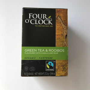 Four O'Clock Green Tea and Rooibos