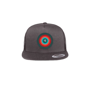 Trucker Hat Charcoal Grey with Flat Brim