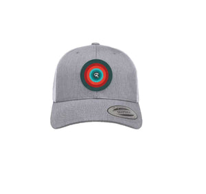 Trucker Hat Light Grey and White