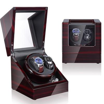 Remontoir montre automatique a led 2 Slots marron