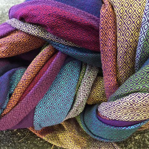 Girasol Northern Lights Diamond Double Weave Wrap