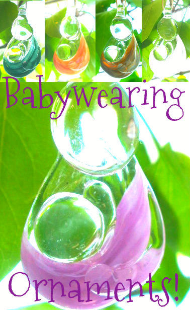 Handmade Glass Babywearing Ornament