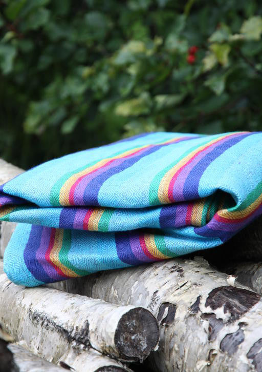 Vanamo Rainbow Ruutu cotton/linen blend, purple weft