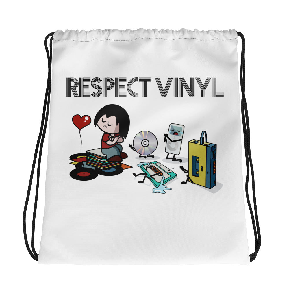 Statements • Respect Vinyl • Kordelzugtasche