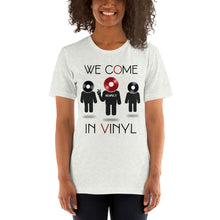 Load image into Gallery viewer, Cum in Vinyl • Respect Vinyl • Kurzärmeliges Unisex-T-Shirt