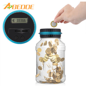 Electronic Digital Counting Piggy Bank Money for USD EURO GBP