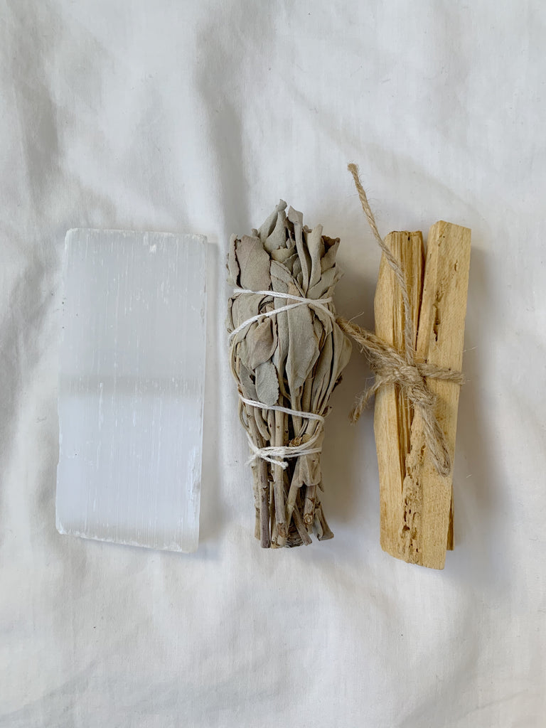 Cleansing Bundle - Sage, Selenite & Palo Santo - Mystic Madness