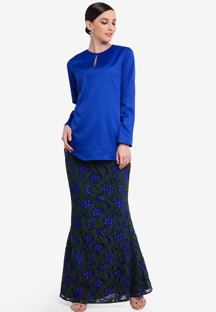 VALENCIA - MINI KURUNG W/ LACE SKIRT - BLUE