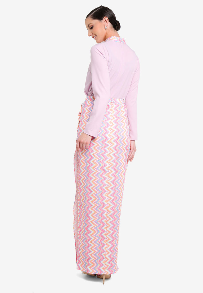 ANTIGUA - TUCK IN KURUNG W/ STAND COLAR - PINK