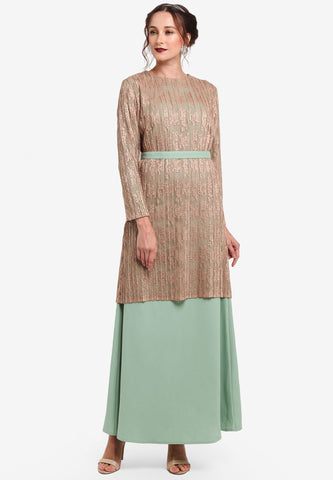 TOULOUSE LACE DRESS / JUBA COMBO - NUDE