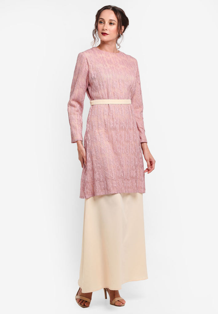 TOULOUSE LACE DRESS / JUBA COMBO - PINK