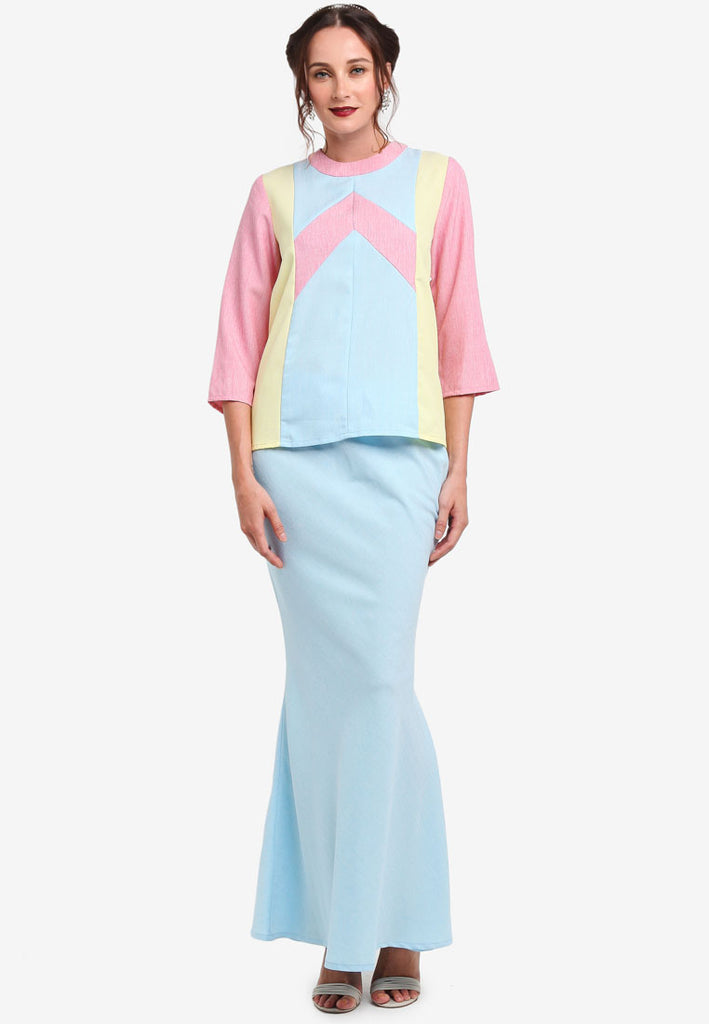 COLMAR BAJU KEDAH ARROW 3/4 SLEEVE  - LIGHT BLUE