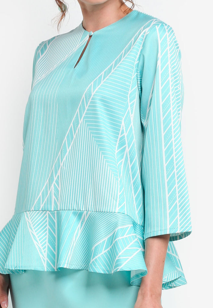 NANCY STRIPES BAJU KURUNG MODERN TOP  - PRINT