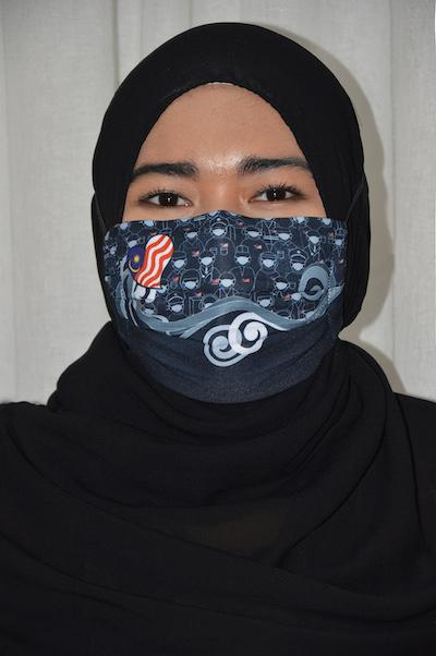 #UnityMasks - Terengganu Edition Reusable Face Masks (4 Pack: Terengganu Flag, Malaysian Flag, Blue & Black Frontliner Flags)