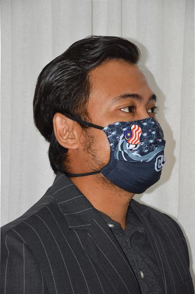 #UnityMasks - Labuan Edition Reusable Face Masks (4 Pack: Labuan Flag, Malaysian Flag, Blue & Black Frontliner Flags)