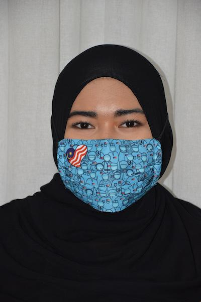 #UnityMasks - Perak Edition Reusable Face Masks (4 Pack: Perak Flag, Malaysian Flag, Blue & Black Frontliner Flags)