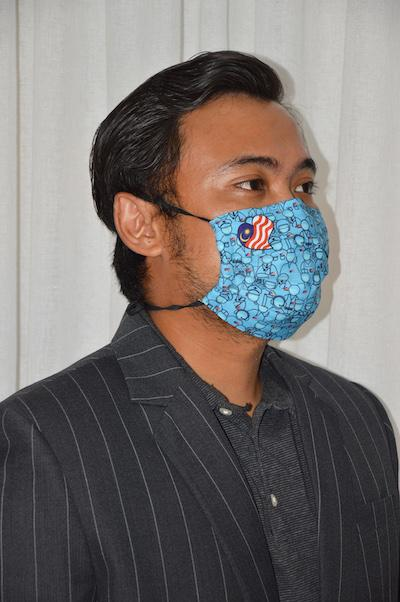 #UnityMasks - PACK KITA (2 Pack: Blue  Frontliner  & Malaysian Flag Reusable Face Masks)