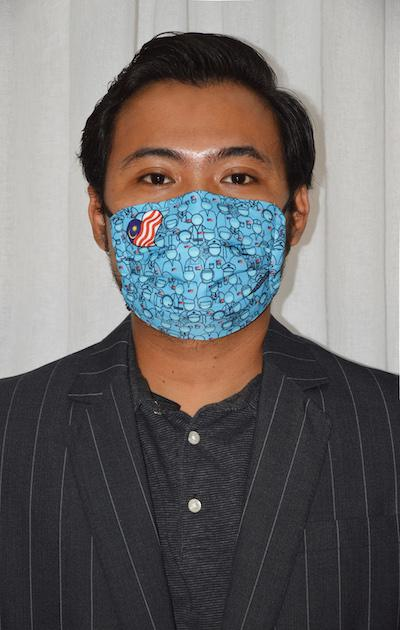 #UnityMasks - Melaka Edition Reusable Face Masks (4 Pack: Melaka Flag, Malaysian Flag, Blue & Black Frontliner Flags)