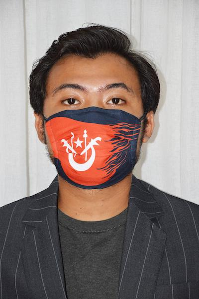 #UnityMasks - Kelantan Edition Reusable Face Masks (4 Pack: Kelantan & Malaysian Flag, Blue & Black Frontliner Flags)