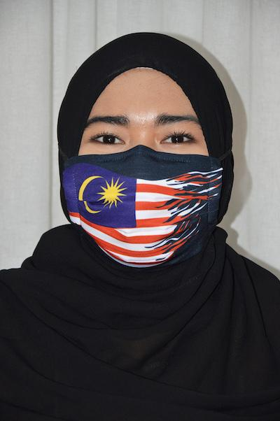 #UnityMasks - Kedah Edition Reusable Face Masks (4 Pack: Kedah Flag, Malaysian Flag, Blue & Black Frontliner Flags)