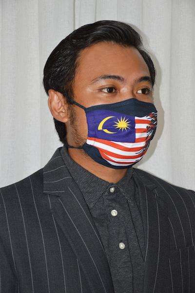 #UnityMasks - Perlis Edition Reusable Face Masks (4 Pack: Perlis Flag, Malaysian Flag, Blue & Black Frontliner Flags)